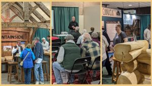 Photo from Portland Log and Timber Frame Show